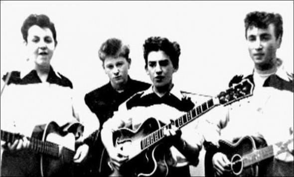 The Beatles in their beginnings.