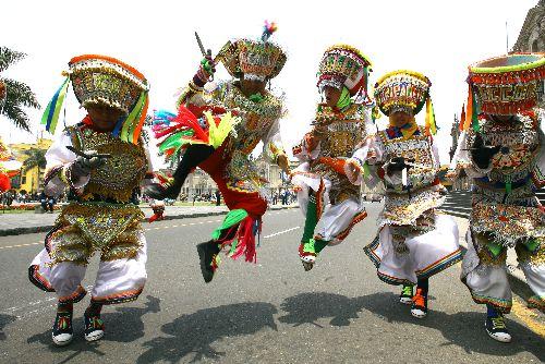Manifestación cultural región Ica Perú