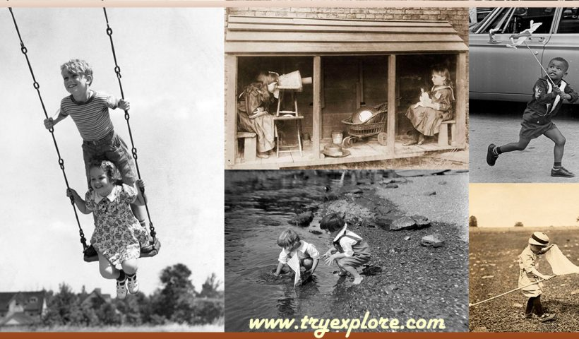 Fotos antiguas de Niños Jugando
