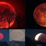 Eclipse de Luna Roja de Sangre. Eclipse Blood Red Moon. Eclipses 2020