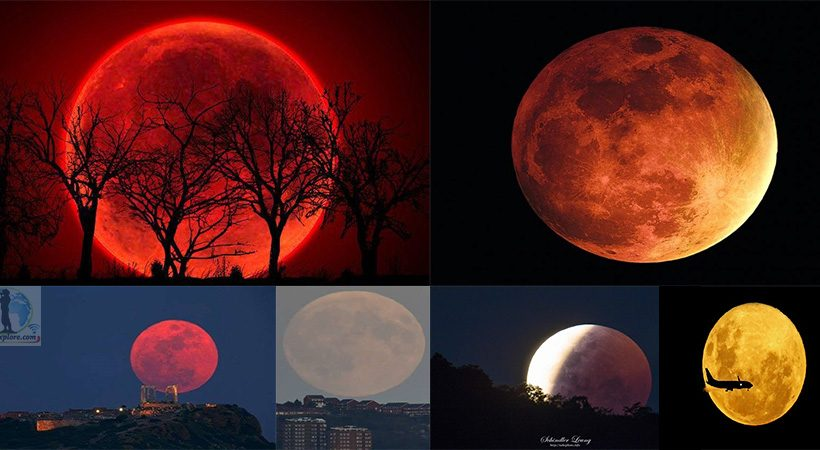 Eclipse de Luna Roja de Sangre. Eclipse Blood Red Moon. Eclipses 2020