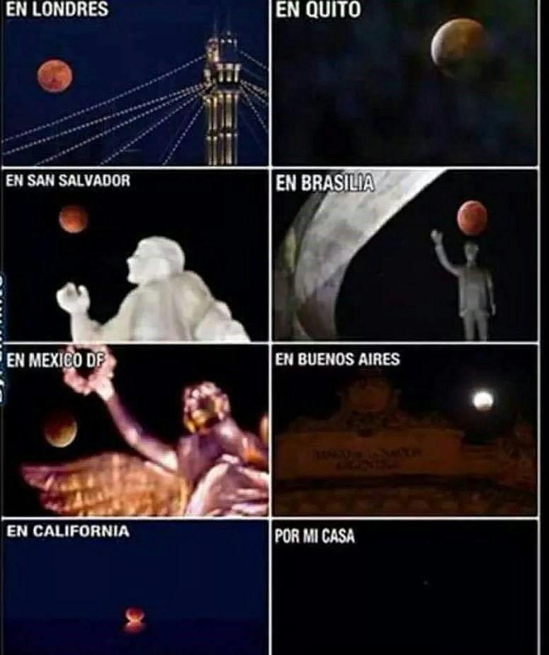 Eclipse de luna roja por el mundo