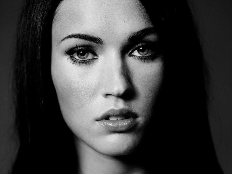Megan Fox black white