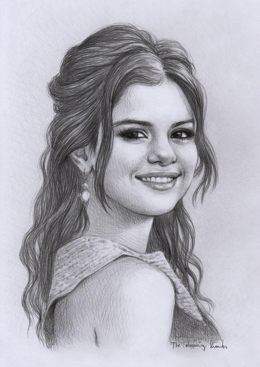 Selena Gomez dibujo