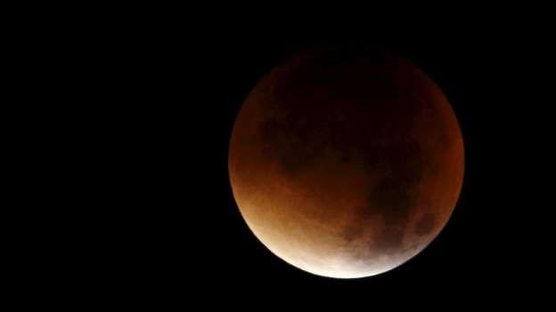 mejores imágenes del eclipse luna roja