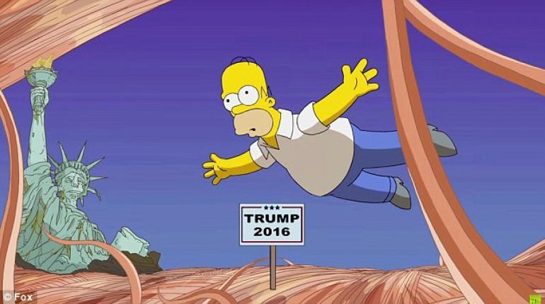 Los Simpson dijeron en el 2000 que Trump sería presidente