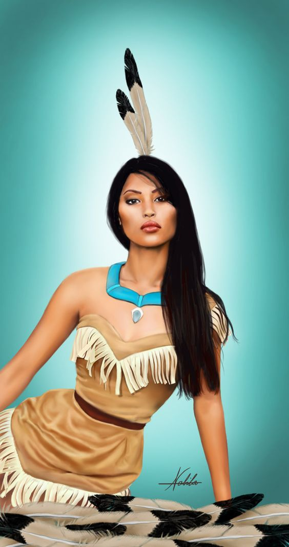 Mujeres indígenas Bellas pocahontas