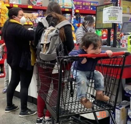 porque no llevar a niños al supermercado